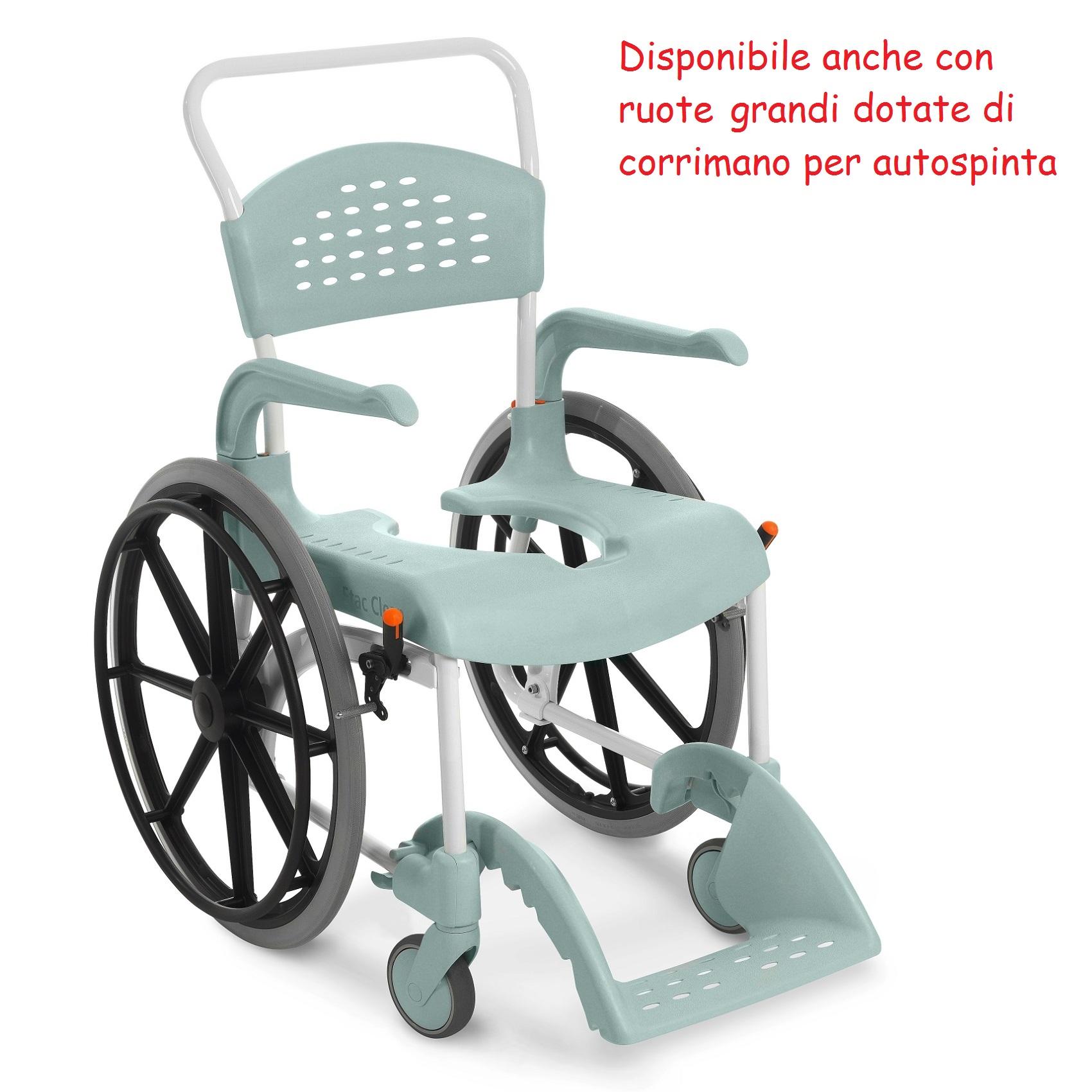 SEDIA PER WC E DOCCIA con ruote Clean - Ortopedia 24